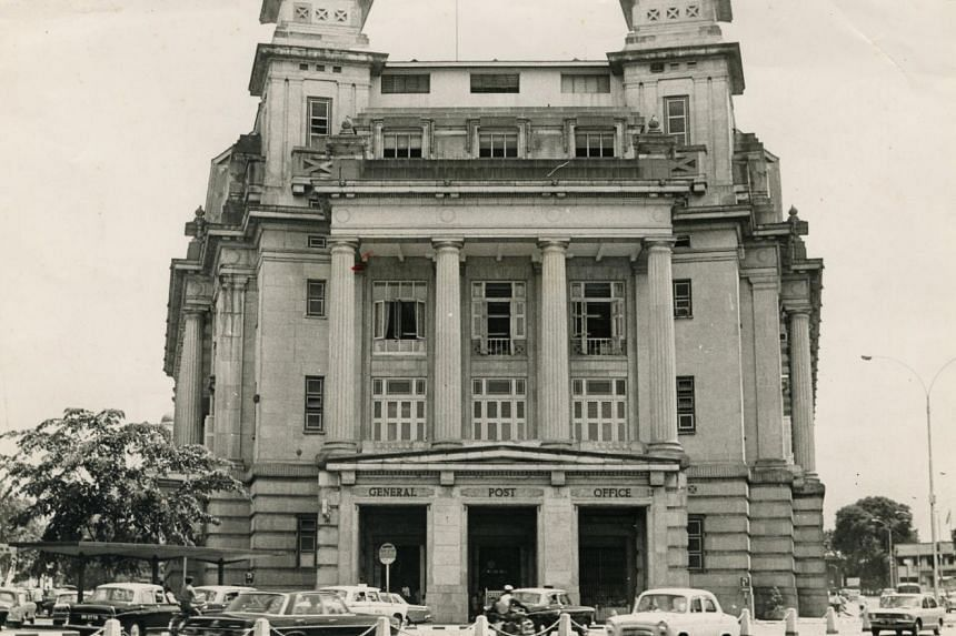 This photograph taken in May 1972 shows the Singapore General Post Office.