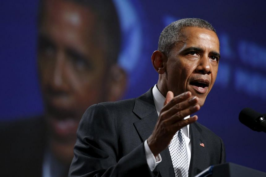 U.S. President Barack Obama speaks about gun violence during an address to the United States Conference of Mayors in San Francisco on Friday (June 19).