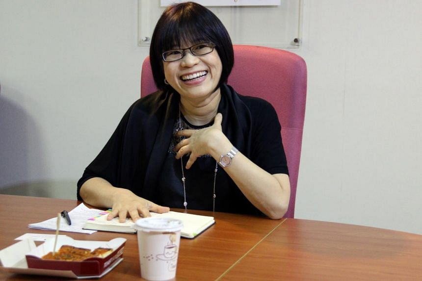 Ms Soh Swee Ping, who heads the Council For Third Age (C3A), on issues the elderly face. -- ST PHOTO: KEMBURAJU THANGARAJAN