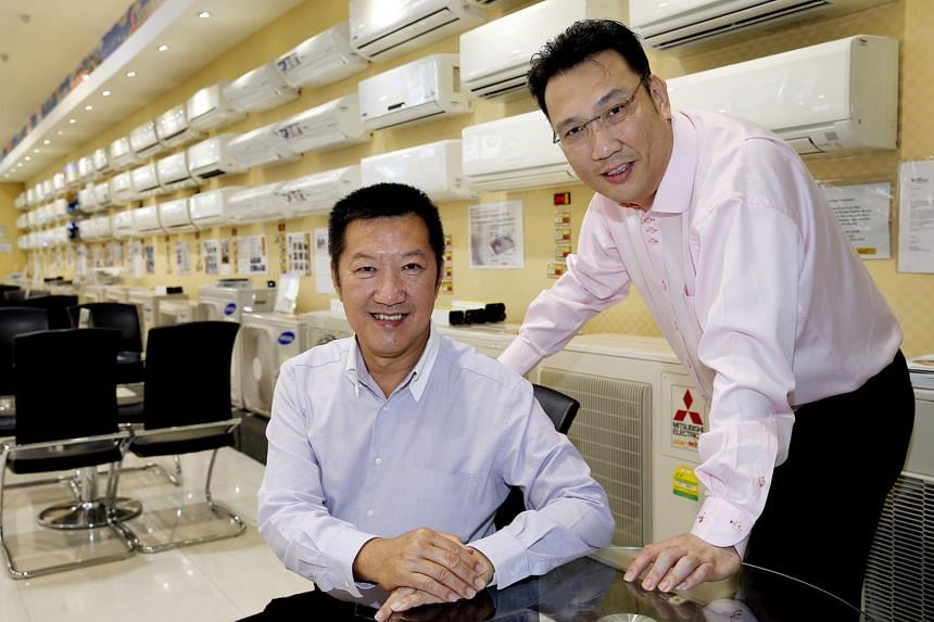 Gain City Best-Electric executive chairman and founder Danny Teo (left) – seen here with his youngest brother Kenny Teo – has come a long waysince his days repairing air-conditioners for his Hougang kampung neighbours.