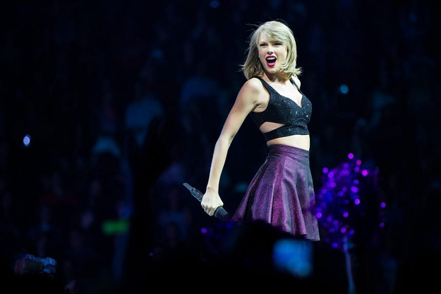 US singer Taylor Swift performs during a concert at the Lanxess Arena in Cologne, Germany, on June 19, 2015.