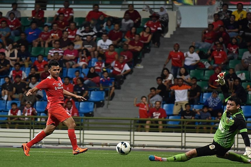 In his second game back from a serious injury last November, Shahdan Sulaiman scored for the LionsXII on Saturday.