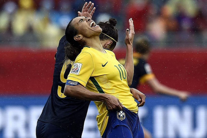 Brazil star Marta can hardly believe her World Cup adventure has ended at the first knockout round after a perfect group stage.