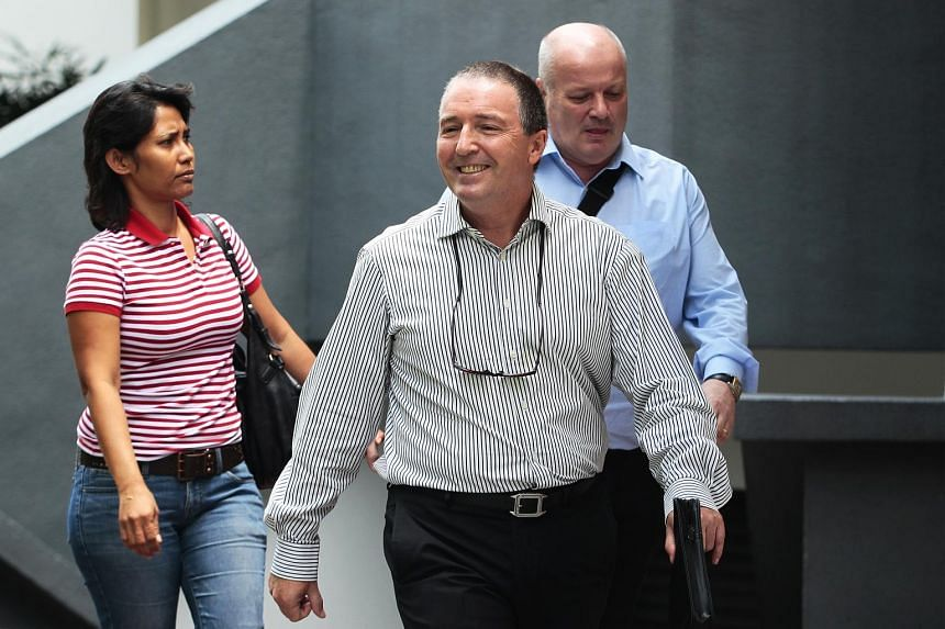 Profitable Plots directors Timothy Goldring (centre) and John Nordmann were convicted a year ago of cheating investors and jailed for a total of 15 years. Ms Geraldine Thomas (left) was acquitted during the trial.
