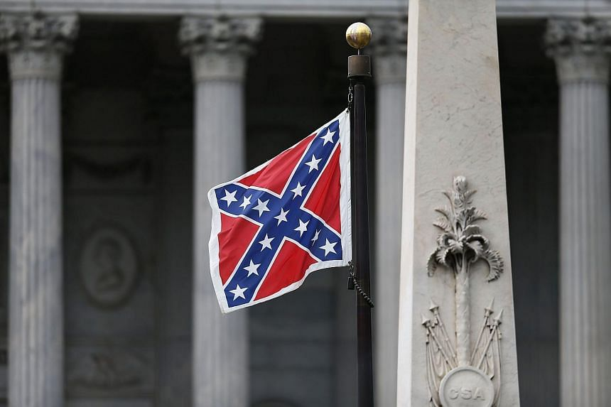 A Confederate flag flies on the Capitol grounds in Columbia, South Carolina, on June 22, 2015. American retailer Walmart said it would be pulling all Confederate flag merchandise from its stores on Monday, June 23, 2015.