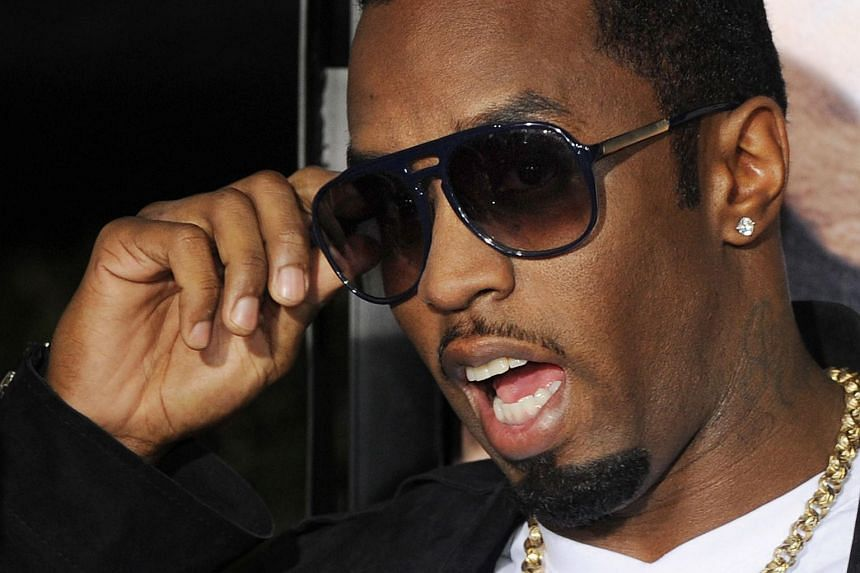 Sean 'Diddy' Combs posing on the red carpet as he arrives for the premiere of the comedy movie Get Him To The Greek.