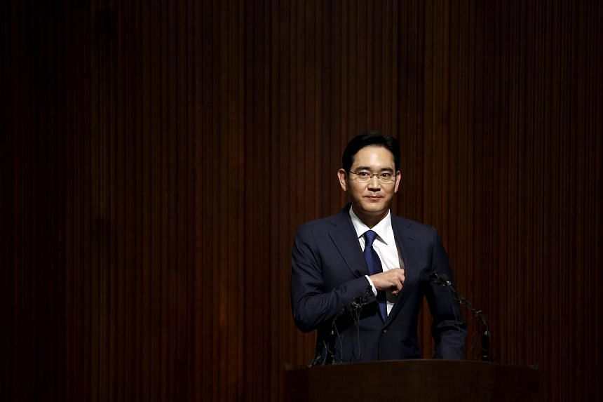 Jay Y. Lee, the company's vice chairman and the only son of Samsung Electronics chairman Lee Kun-hee, arrives to make a public apology over the spread of the Middle East Respiratory Syndrome (Mers) in Seoul, South Korea.