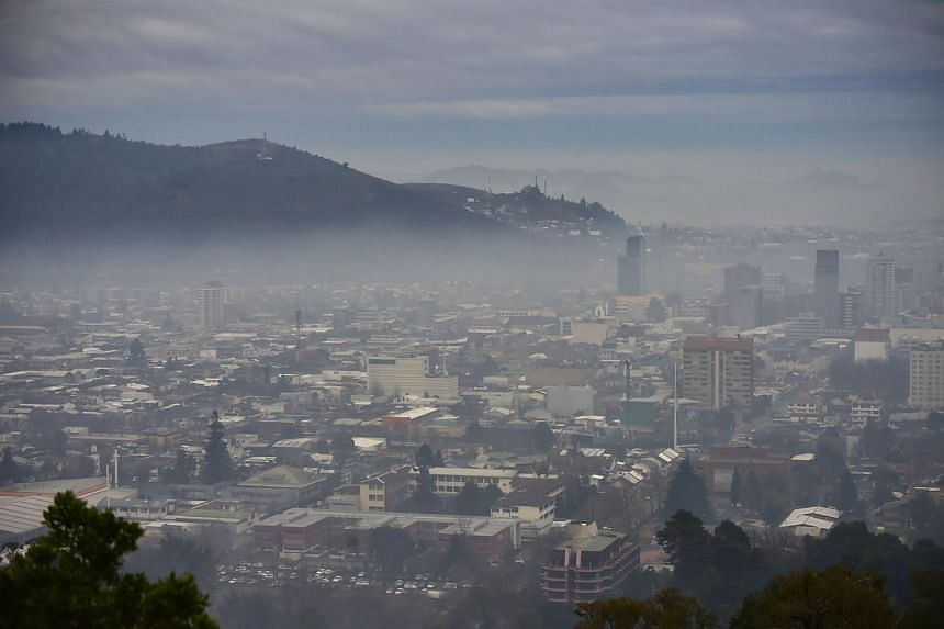 Temuco, one of the most polluted cities in Chile. High levels of pollution forced the Chilean authorities to declare an environmental emergency in the Santiago area yesterday.