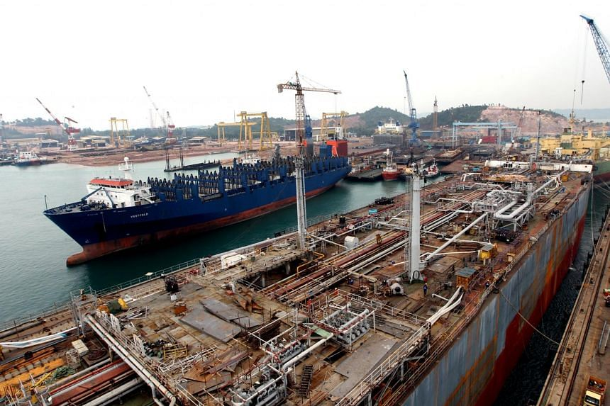 A shipyard in Tanjung Uncang, west of Batam Island. Batam has seen its shipbuilding industry expand in the last decade, peaking in 2011.