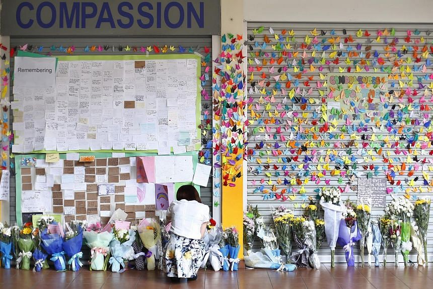 Tributes left for victims of the Sabah earthquake at Tanjong Katong Primary School.