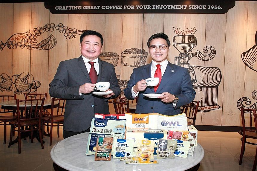 As assistant general manager of Owl International, Mr Richmond Te (right) charts the firm's business development. His father Ronald Te (left), is the co-founder of Super Group, which acquired Owl International in 2003.