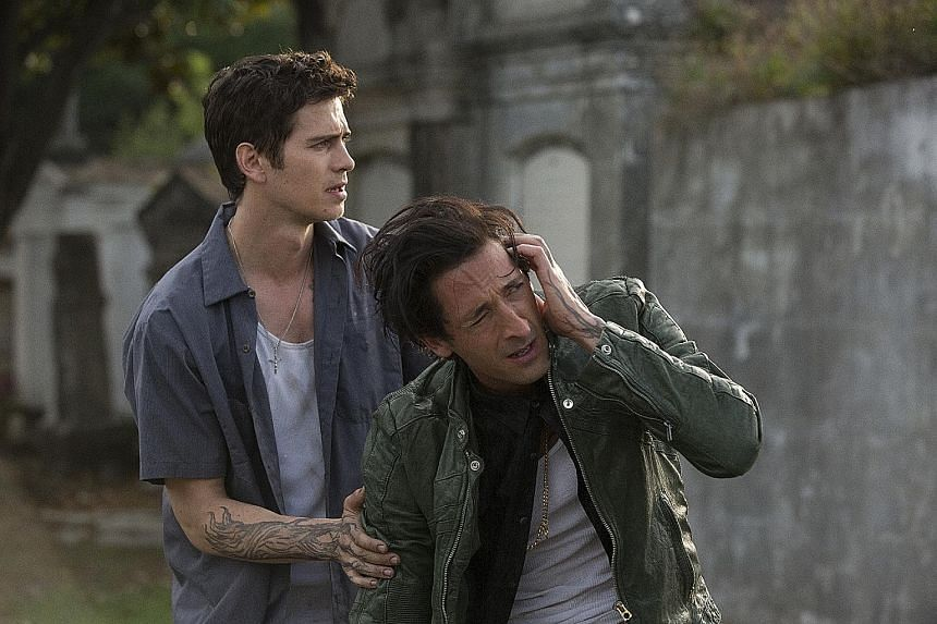 Hayden Christensen (left) and Adrien Brody play two brothers in a testy love-hate relationship in American Heist.
