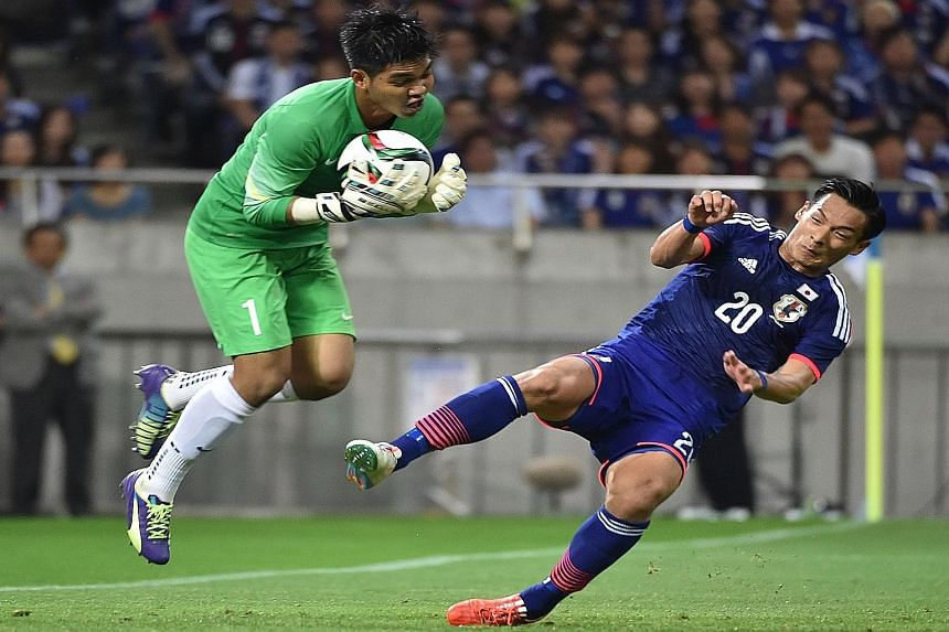 Singapore goalkeeper Izwan Mahbud, who kept out the marauding Japanese players in the recent World Cup qualifier which ended in a 0-0 draw, says the Football Association of Singapore is in discussions with foreign leagues, including the J-League, to