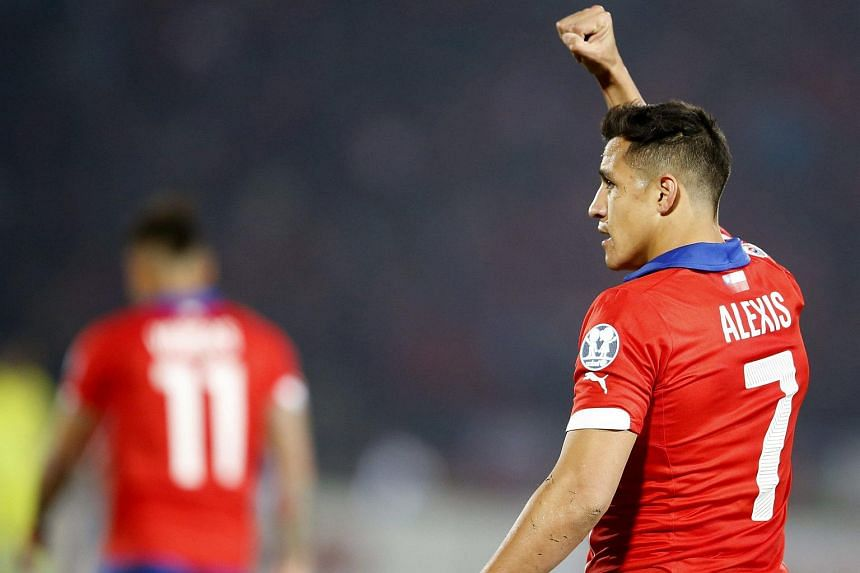 Chile's Alexis Sanchez celebrates scoring against Bolivia in the Copa America 2015 group stage.