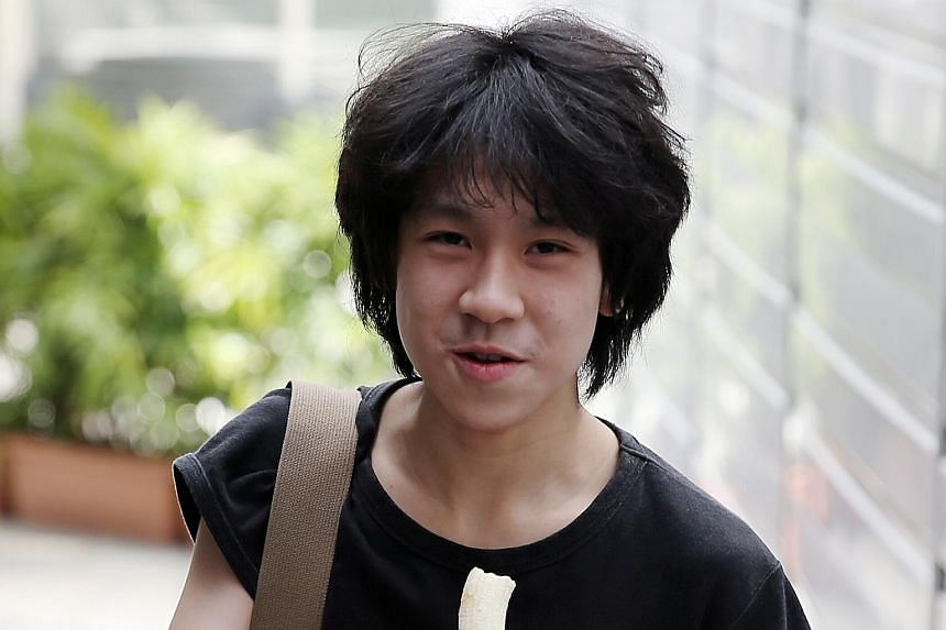 Amos Yee arriving at the state courts on April 17, 2015.