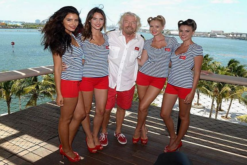 Sir Richard Branson at a photocall for the Virgin Cruises announcement.