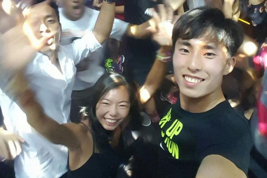 Letting loose with my teammates after the SEA Games.