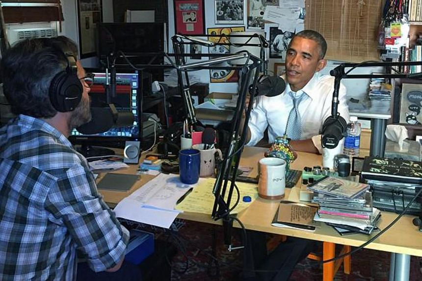 President Barack Obama used the racially fraught N-word on Monday to comment on US race relations as part of an hour-long conversation with writer, director and comedian Marc Maron.