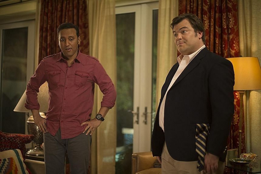Jack Black (above, right) and Aasif Mandvi insist that, unlike many popular dramas about international politics, The Brink will take potshots at all the fictional governments portrayed, be they American, Pakistani, Indian or Israeli.