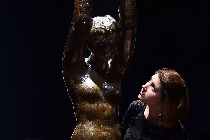 The sculpture of Aphrodite was created by Rodin in 1913 and cast only in plaster for a play of the same name in Paris.