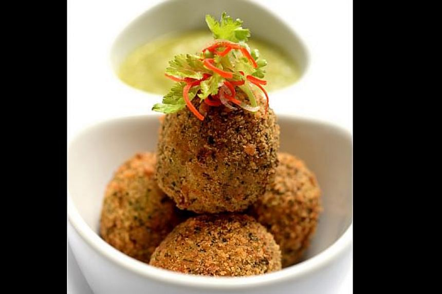 Aromatic Chicken Rice Balls with Chilli Coriander are an all-round success.