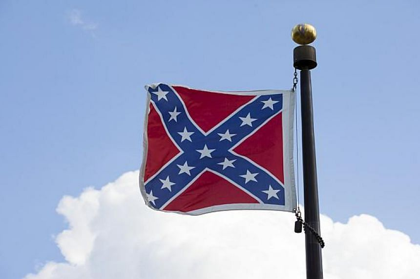 The Confederate flag at the State House grounds in Columbia, South Carolina.