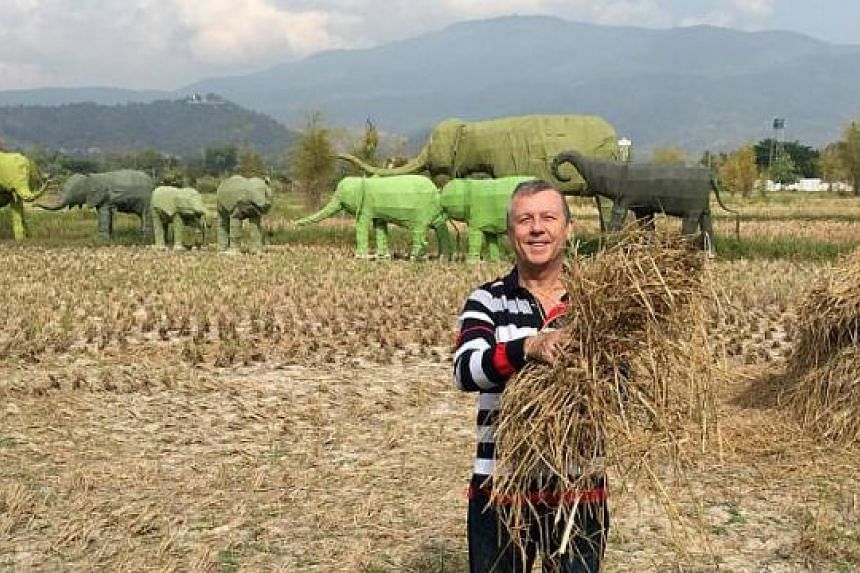 Royal Plaza on Scotts' general manager Patrick Fiat has tried rice-harvesting in Chiang Mai.