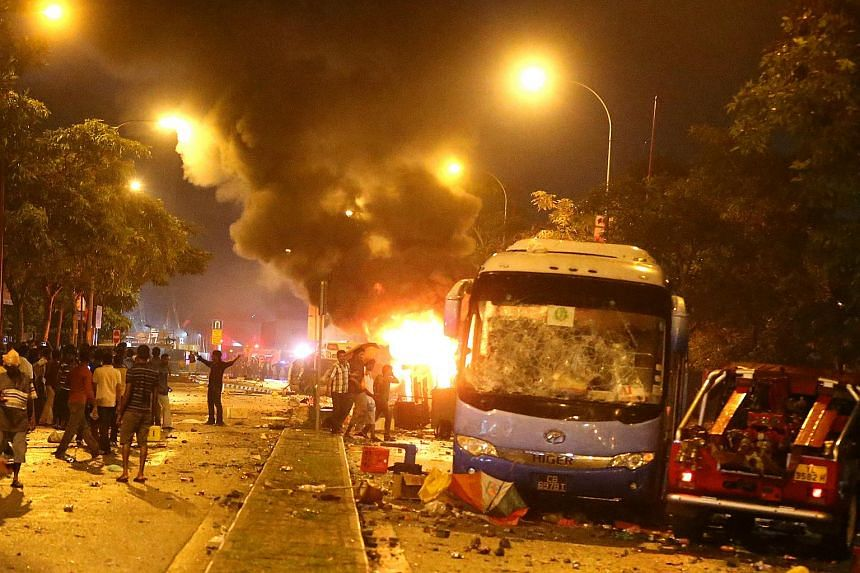 The riot that broke out at Little India on Dec 8, 2013.