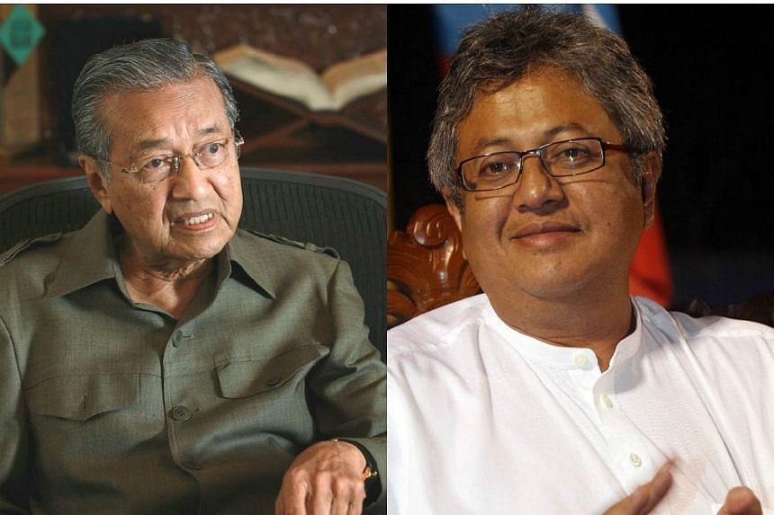 Former Malaysian Prime Minister Tun Mahatir Mohamad (left) and former law minister Datuk Zaid Ibrahim (right).