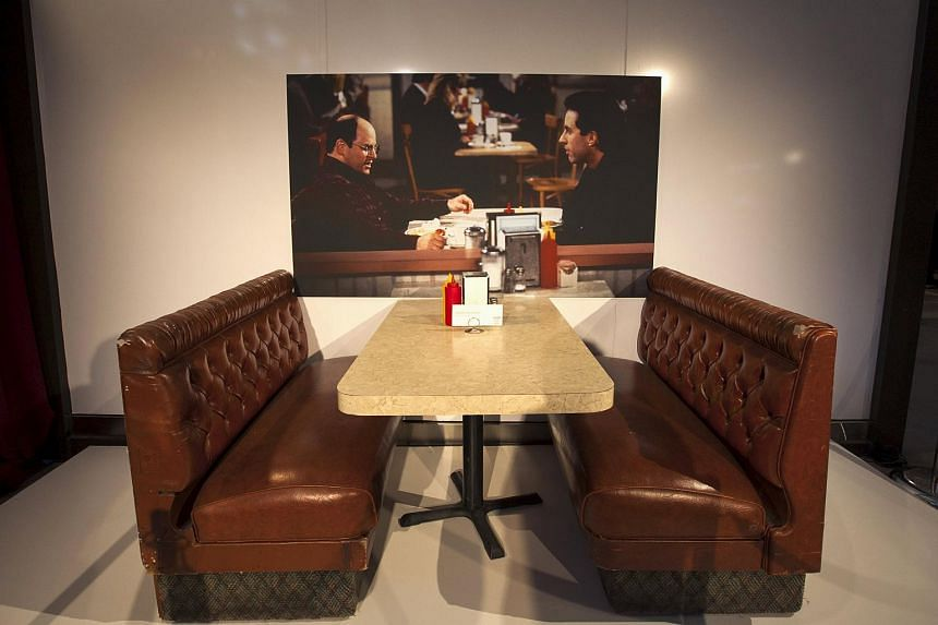 The diner table and booth from the original set of the Seinfeld comedy series.