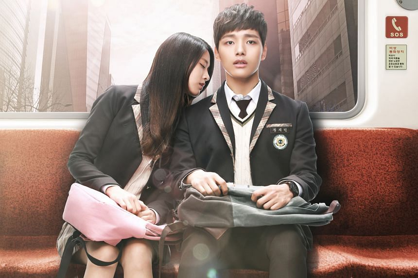 Mask stars Soo Ae and Ju Ji Hoon , while vampire Kim Seol Hyun (above) is attracted to human Yeo Jin Goo in Orange Marmalade.