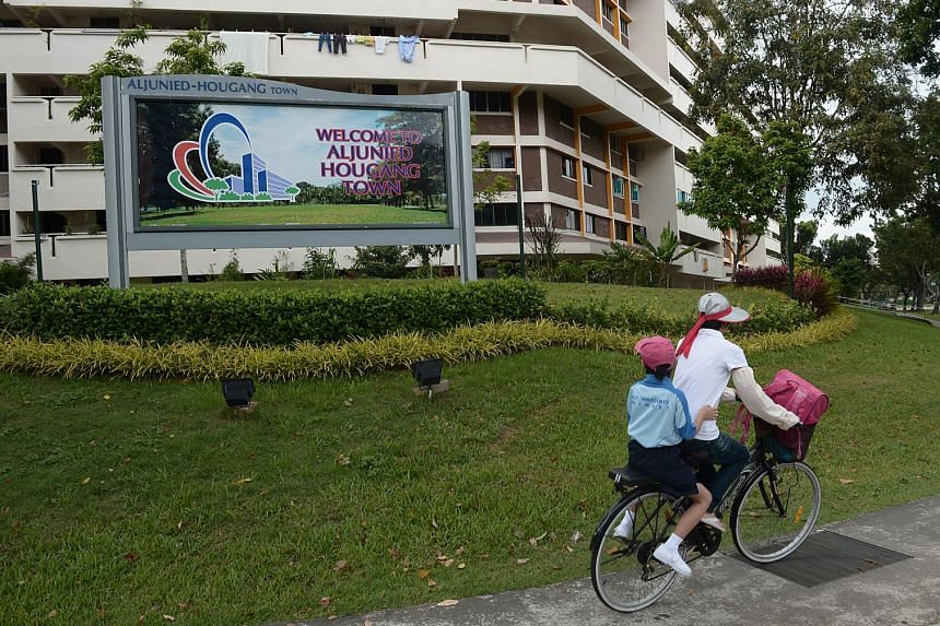 A resident of a new HDB development in Hougang has gone to court to obtain a refund of the service and conservancy charges she paid to the Aljunied-Hougang-Punggol East Town Council. - ST FILE PHOTO