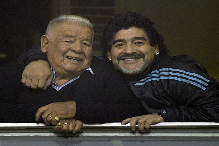 Don and Diego Maradona in 2012.