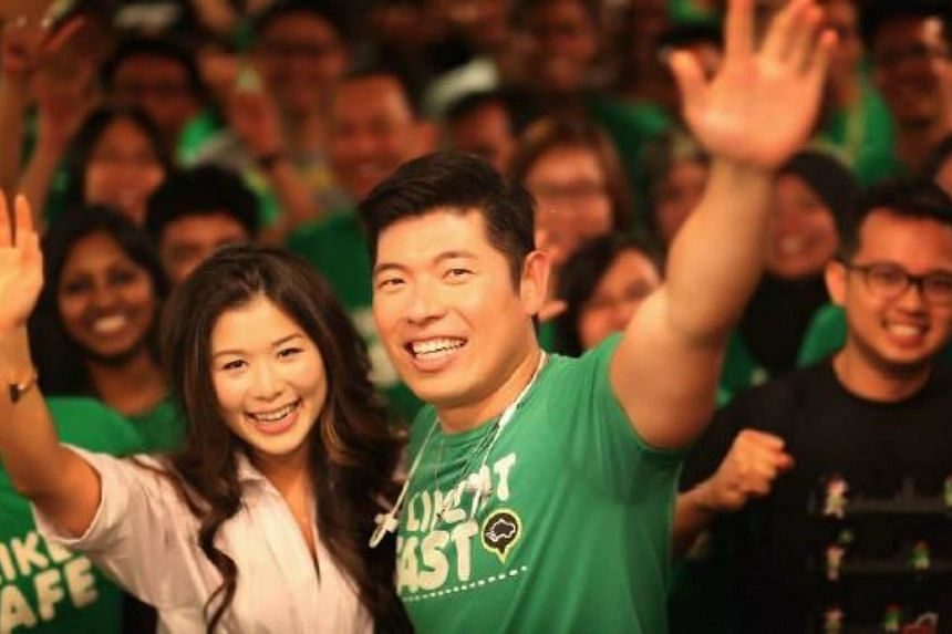 The promotion is a wedding celebration for GrabTaxi's chief executive officer and co-founder Anthony Tan and Chloe Tong.