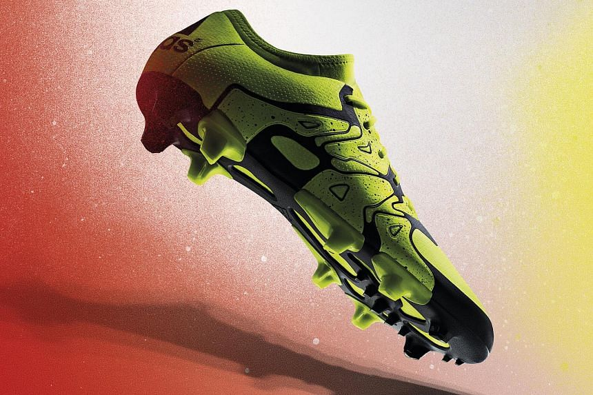 Adidas X15 football boots.