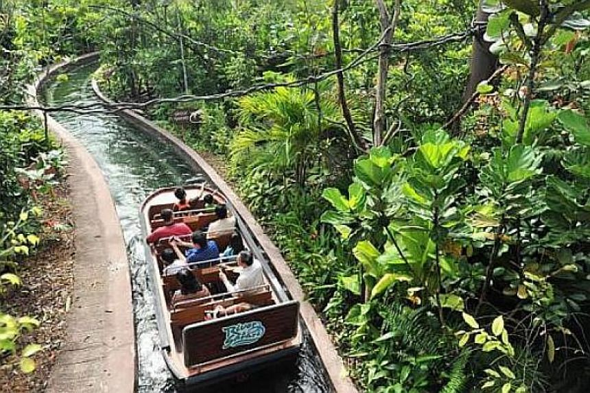 The River Safari's Amazon River Quest boat ride takes visitors through a 483m-long man-made river, designed to simulate a boat voyage down the Amazon River.