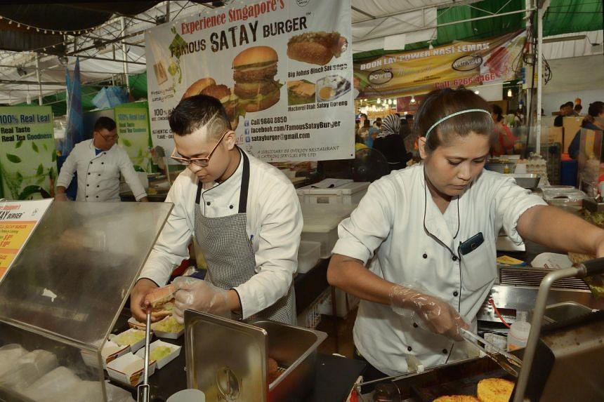 Famous satay burger.