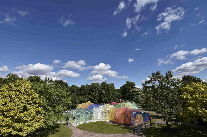 Serpentine Pavilion in London's Kensington Gardens.