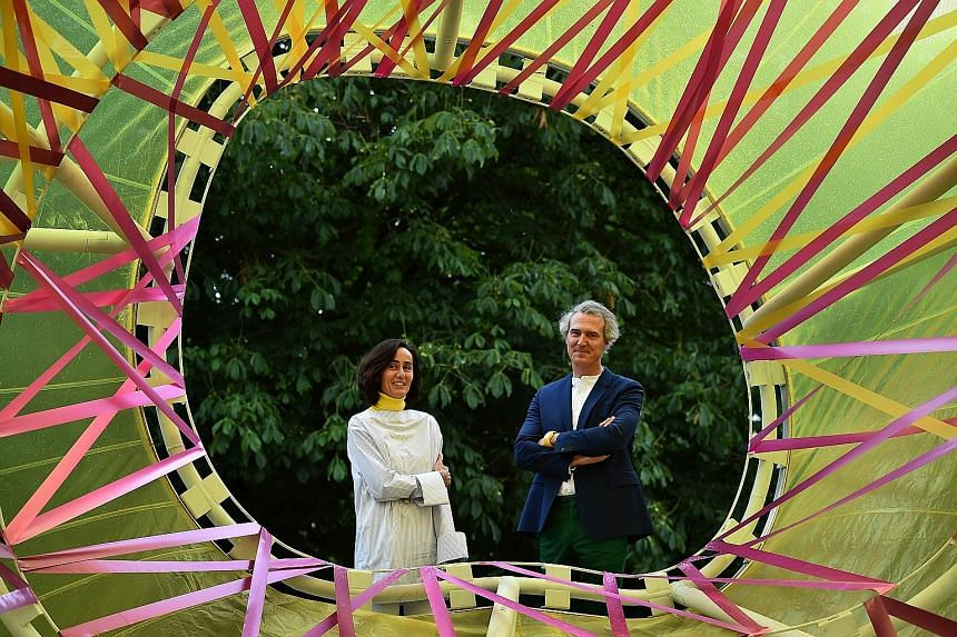Spanish architects and married couple Lucia Cano and Jose Selgas (both above) were behind this year's Serpentine pavilion in London's Kensington Gardens.