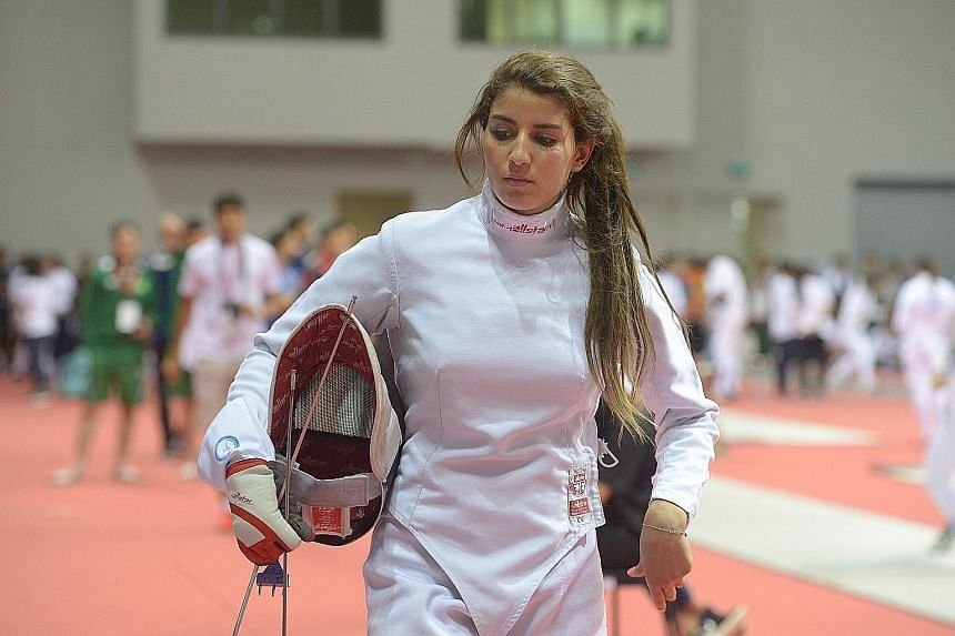 Najlaa Al Sharki, the only Syrian competing in the Asian Fencing Championships here, has had training disrupted in her war-torn homeland.