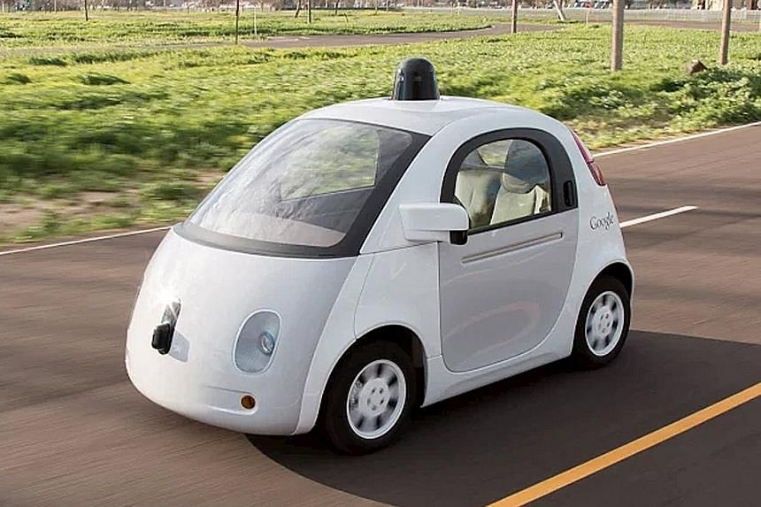 """The prototype cars in the Silicon Valley city of Mountain View will be limited to 40kmh and have """"safety drivers"""" who can take over if needed."""