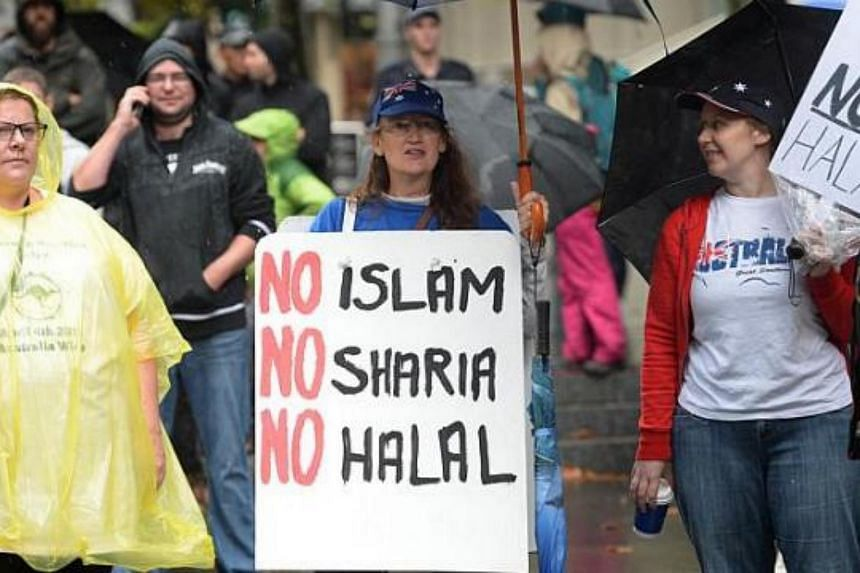 Protesters from a group called Reclaim Australia held nationwide rallies in April, including in Sydney, against halal certification, syariah law and increased Muslim immigration.
