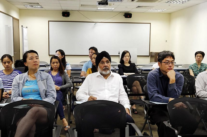 General practitioner Sorinder Singh, 65, will soon complete a one-year Diploma in Geriatric Medicine at NUS, where he is currently the university's oldest student. Figures from four universities here show that over 700 students enrolled in diploma an