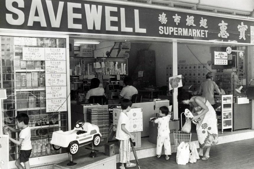 Savewell (above), which Phey Yew Kok had a hand in setting up, began to shut in 1985. The first Sheng Siong store took the place of a Savewell outlet in Ang Mo Kio. Today, FairPrice is all that is left of cooperative supermarkets of that era.