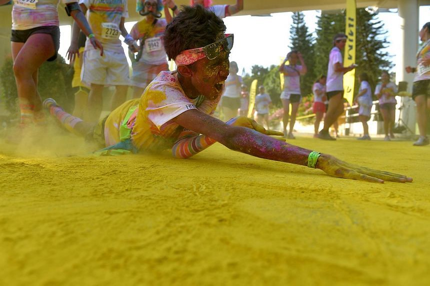 Participants at The Color Run in Singapore.