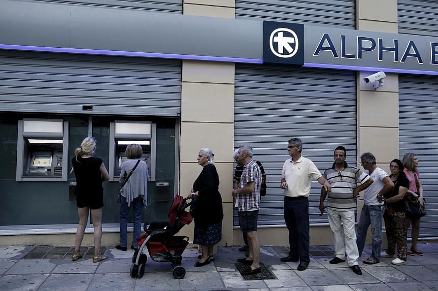 Greek banks will remain closed until July 6 - the day after a referendum on bailout proposals - and ATM withdrawals will be limited to 60 euros (S$90) a day in the same period.