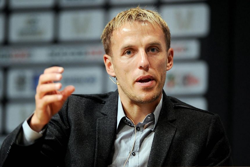 Former Manchester Unted player Phil Neville during the Soccerex Global Convention.