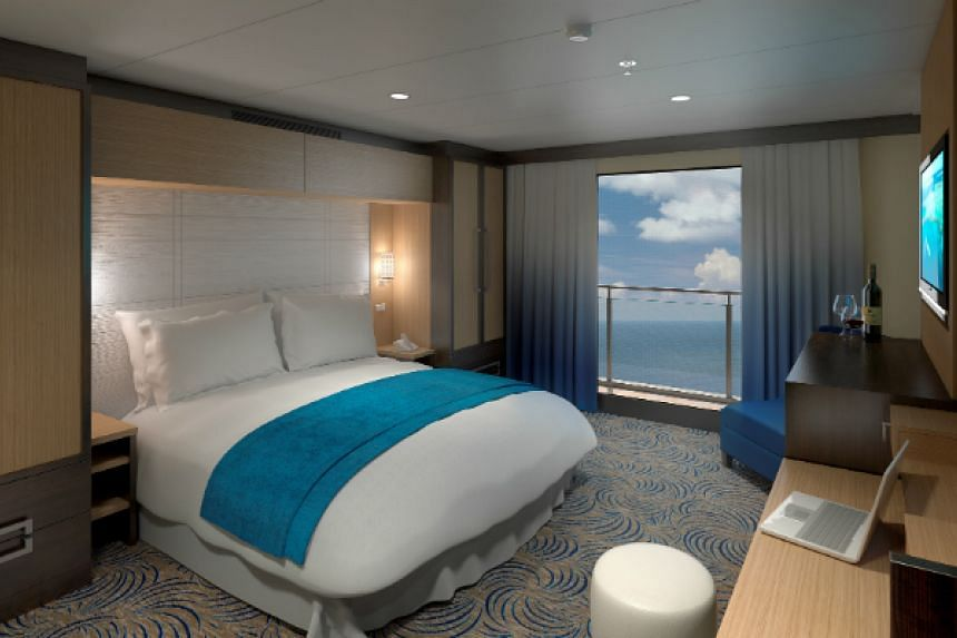 Don't fret if you don't manage to get a seaview room. Interior accommodations are outfitted with virtual balconies spanning 80 inches in width that display real-time sights and sounds of the majestic ocean outside.