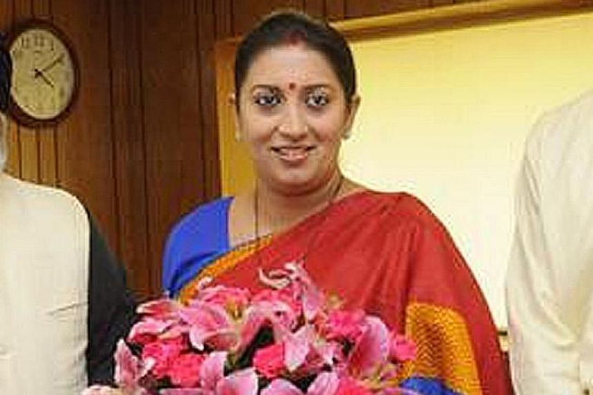 The four ministers in trouble are (clockwise from top left) External Affairs Minister Sushma Swaraj, Human Resource Development Minister Smriti Irani, Women and Child Development Minister Pankaja Munde and Rajasthan Chief Minister Vasundhara Raje.