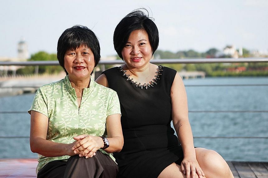 Ms Deborah Tan (right), founder of online lifestyle portal Material World Singapore, with Mrs Judy Kong, who joined the Singapore Women's Auxiliary Naval Service during Konfrontasi, a period of violent conflict between Indonesia and Malaysia, which i